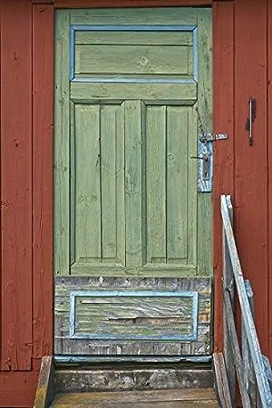 Suecia Estocolmo archipiélago norrora isla rojo casa puerta Saltkrakan: Amazon.es: Juguetes y juegos