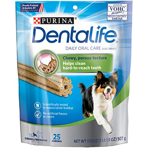 Purina DentaLife Made in USA Facilities Small/Medium Dog Dental Chews; Daily - 25 ct. Pouch