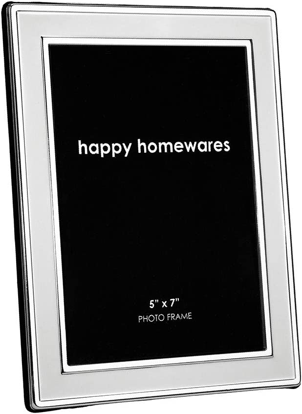 Happy Homewares Traditional Rectangular Matt and Silver Plated 5