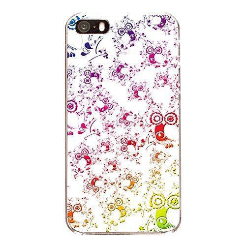 "Disagu Design Case Coque pour Apple iPhone 5s Housse etui coque pochette ""Eulenmuster weiß"""