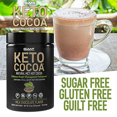 Keto Cocoa - Delicious Sugar Free Hot Chocolate Mix with 6g of MCTs for Appetite Suppressing Ketogenic Diet and Low Carb Lifestyle | No Gluten | 20 Servings 3
