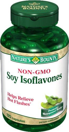 Nature's Bounty Soy Isoflavones, Non-GMO, 120 Capsules