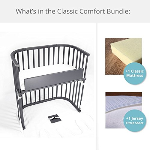 babybay Bedside Sleeper Classic Comfort Bundle (Grey)