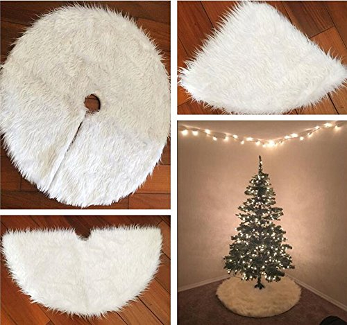 SLZZ Christmas Tree Skirt - Luxury Plush Carpet Christmas Tree Skirt Base Floor Mat Cover - For Xmas Decoration New Year Home Party Supplies by SLZZ (Image #1)
