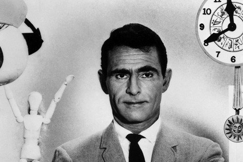 Rod Serling in The Twilight Zone Classic Sci-Fi TV by props 11x17 Mini Poster from Silverscreen