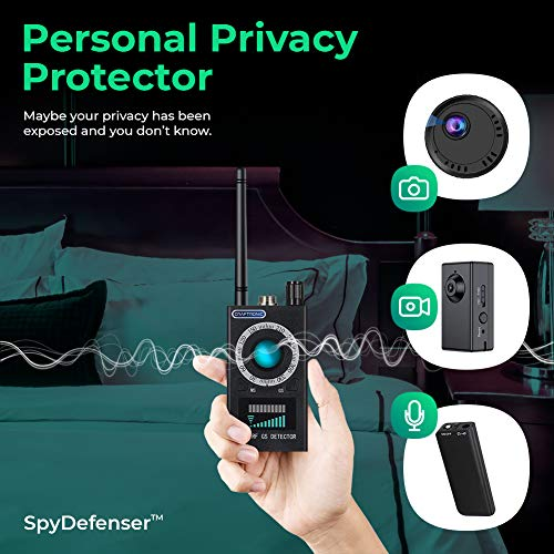 Craftronic SpyDefender Anti RF Spy Detector & Hidden Camera Finder | GSM & GPS Tracking Signal 3 Detection Magnetic Field | Security & Privacy Protection Office, Hotels Room, Airbnb (2020 Version)