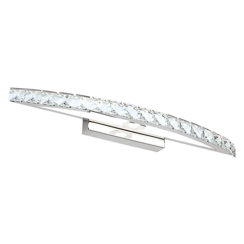 badezimmerlampe K9 Kristall LED Edelstahl Spiegel vorne Lichter, Schlafzimmer Toiletten Badezimmer Spiegel Lichter (Farbe   weißes Licht-18w 70cm)