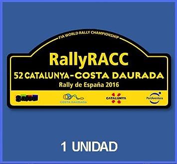 Ecoshirt JJ-H2X6-BUA9 Pegatinas Rallye Cataluña 2016 España DP2002 Stickers Aufkleber Vinilos Adesivi Decals: Amazon.es: Coche y moto