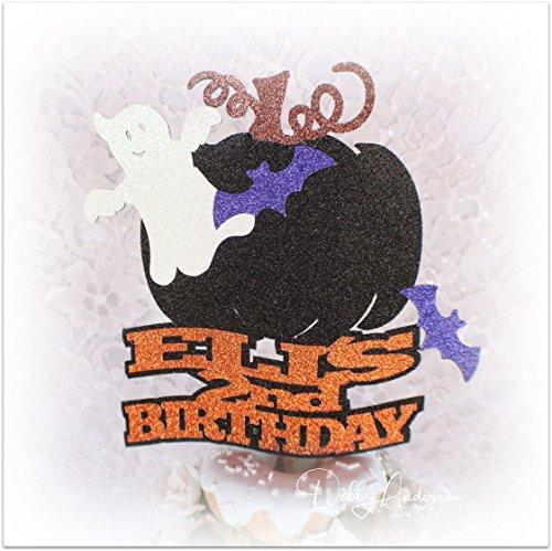 Halloween Birthday Cake Topper