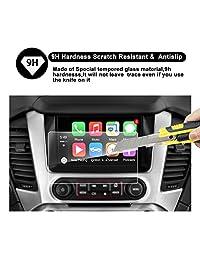 2015 2016 2017 2018 GMC Yukon XL INTELLILINK Protector de pantalla para navegación de 8 pulgadas para automóvil, Sistema de infoentrelación de GMC RUIYA HD Clear TEMPERED GLASS Film protector de pantalla