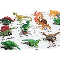 Montessori Dinosaur Figure Animal Match - Miniature Dino Figurines with Matching Cards - 2 Part Cards. Montessori Learning Toy, Language Materials