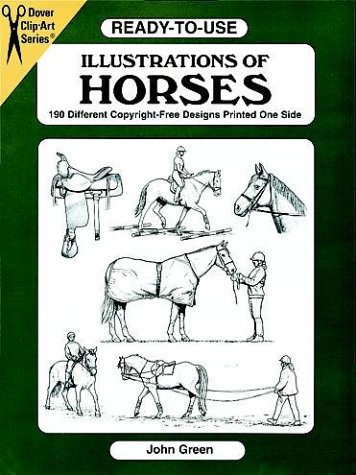Ready-to-Use Illustrations of Horses: 150 Different Copyright-Free Designs (Dover Clip-Art Series) -