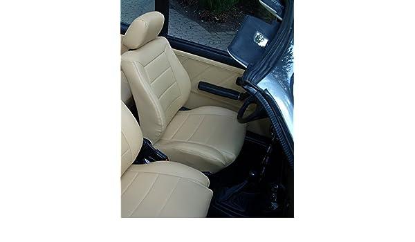 de la Banco y puerta trasera verkleidungen en negro schonbez/üge Colch/ón Asiento funda asientos de piel Piel Equipamiento Asiento Fundas para asientos delanteros