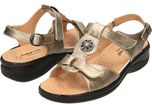 Cushion-Walk Slingback Wedge Sandals Comfort Open Toe Pewter vPYzaaKoZ