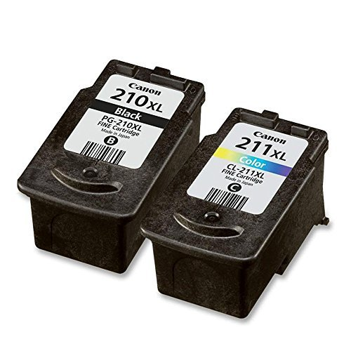 Canon 210XL Black and 211XL Color Ink Tank Cartridges - Genuine OEM Bulk Packaged - Canon Pixma Mx320 Colour