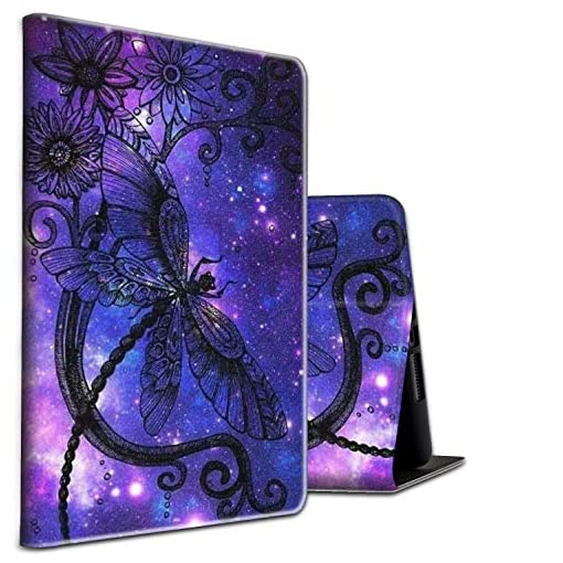 Skyfree Case for iPad Air 10.2″ 2019 / iPad 10.2 Case Auto Wake/Sleep Protective Stand Cover with Adjustable Angles for iPad 7th Gen,Dragonfly in Galaxy