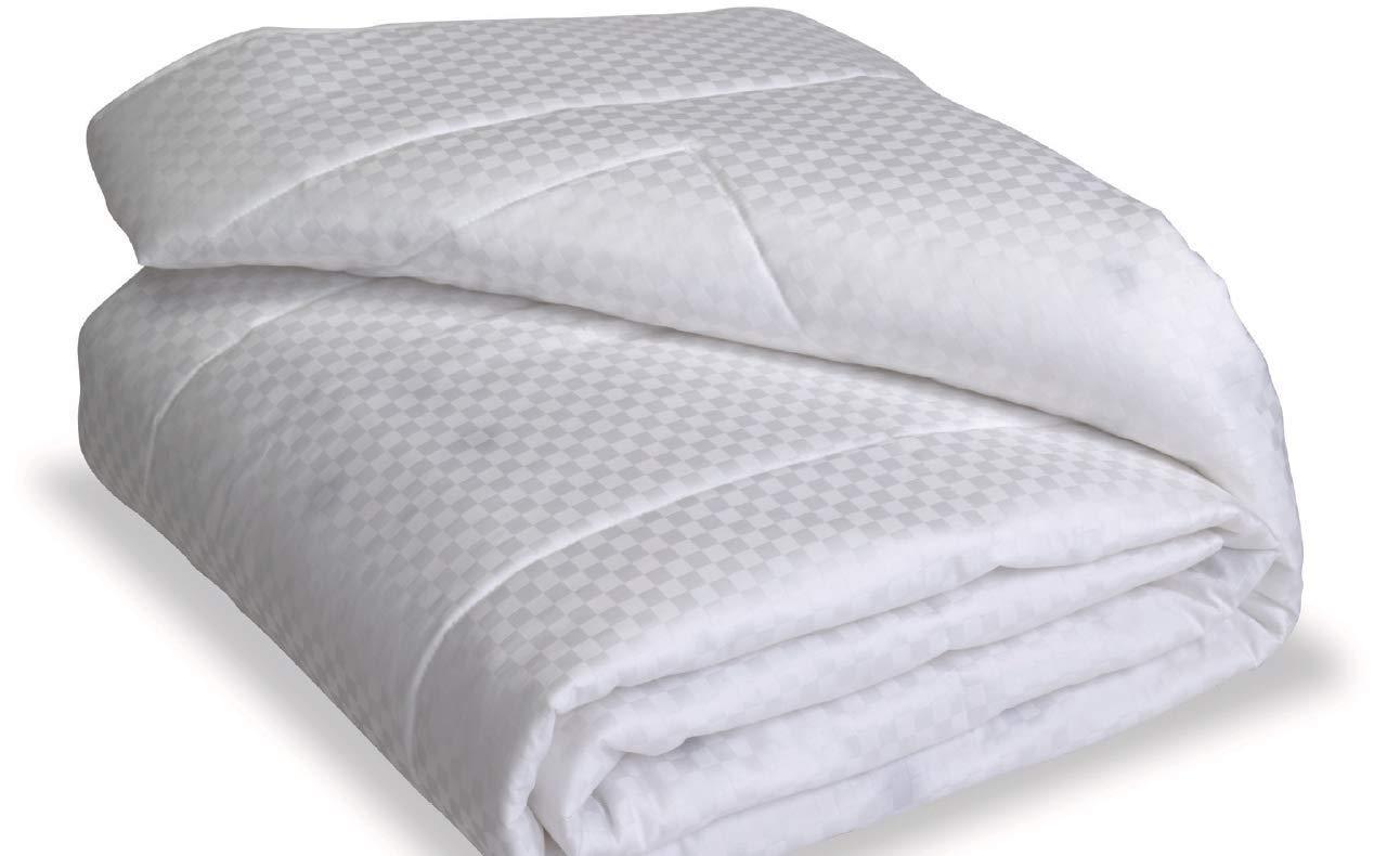 Nikken 1 Thinner Twin White Comforter 1267 - Deeper Sleep, Less Pain, More Flexibility, Temperature Regulating, Hypoallergenic, Hotel Quality Duvet Insert, Weighted Blanket Throw Quilt by Nikken