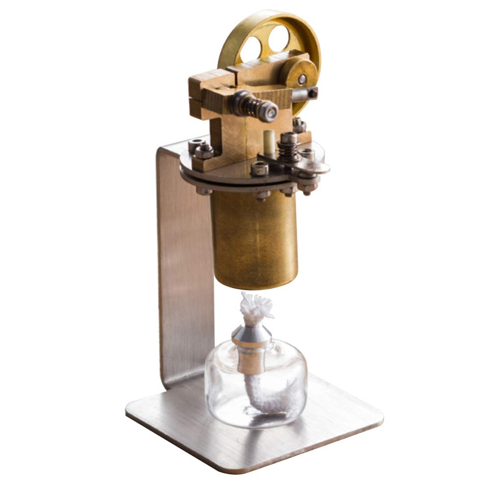 At27clekca Single Cylinder DIY Full Metal Steam Engine Motor Model Educational Toy for QX-M-ZQJ-06