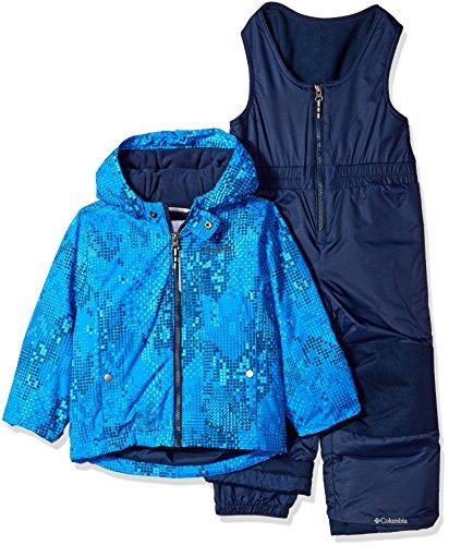 Columbia Kids Snow Pants (Columbia Little Boys' Frosty Slope Set, Super Blue Energy Dot, 4T)