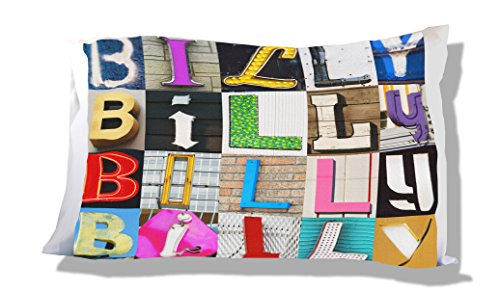 Billys Letters (Personalized Pillowcase featuring BILLY in photos of sign letters)