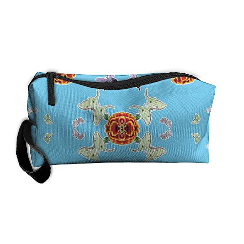 Marigold Coins (Travel Makeup Moths And Marigolds Cosmetic Case Organizer Portable Artist Storage Bag Toiletry Jewelry Bag)