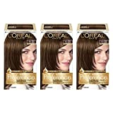 L'Oréal Paris Superior Preference Fade-Defying + Shine Permanent Hair Color, 5G Medium Golden Brown, 3 COUNT Hair Dye