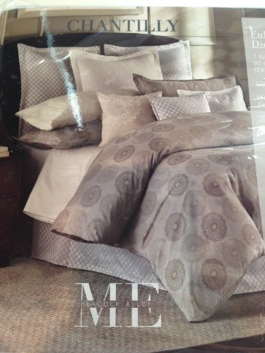 Peacock Alley Jacquard Pillow Sham Chantilly Mink Queen Size Damask Medallion Cotton Sateen Taupe Brown