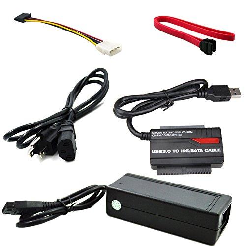 "Nihao® USB 3.0 to 2.5"" 3.5"" IDE SATA HDD Hard Drive Disk DVDROM CDROM Converter Adapter"