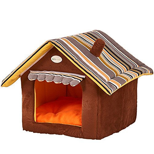 Fund Super Soft Nice Brown Indoor Dog House/pets Beds Pet Kennels Crates & Houses (S(35X30x30cm), Brown)