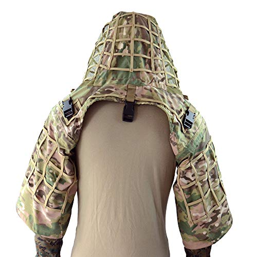 LytHarvest Sniper Ghillie Suit Foundation, Ripstop, Camouflage Tactical Ghillie Hood (CP ()