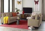 Serta Deep Seating Palisades 73 Sofa in Tan