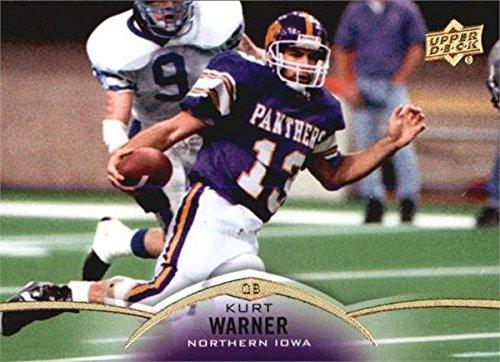 Kurt Warner Autographed Football - Kurt Warner football card (Northern Iowa) 2015 Upper Deck #35