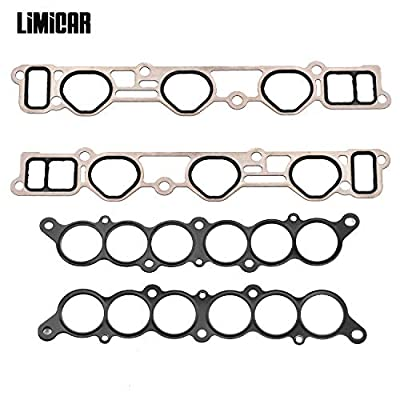LIMICAR Intake Manifold Gasket Set 037-6184 Compatible with 1995-2004 Toyota Tacoma 2001-2004 Toyota Tundra 1996-2002 Toyota 4Runner 1995-1998 Toyota T100