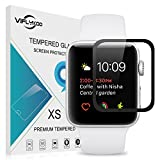 Apple Watch 42mm Screen Protector Tempered Glass [2 Pack], VIFLYKOO Scratch Proof High Definition HD Ultra Clear Thin Screen Protective Glass for Apple Watch Series 2/1/Apple Watch Nike+