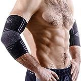 METERSPORT Elbow Sleeve - Compression Sleeve - Elbow Brace - Elbow Support Women Men - Golfers Tennis Elbow Brace Tendonitis - Elbow Pain Treatment Weightlifting Sport Workout Bursitis Arthritis