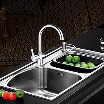 Hlluya Wasserhahn für Waschbecken Küche Die warme und kalte Küche ...