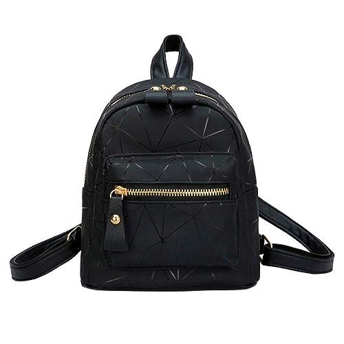 b43f8f434d Borse A Zainetto Ragazza, Mambain Zainetto Moda Eleganti Casual Zainetti In  Pelle Pu Per Studente Donna,Argento/Nero/Rosa: Amazon.it: Scarpe e borse