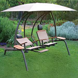 Amish Wood Arbor Swing Stand | Lawn swing, Lawn furniture ...