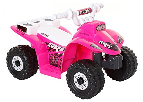 Rugged Plastic Frame Little Quad Girls ATV Battery Operated Riding Toy