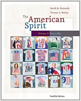 Book The American Spirit: United States History as Seen by Contemporaries, Volume II by David M. Kennedy (2009-08-17)