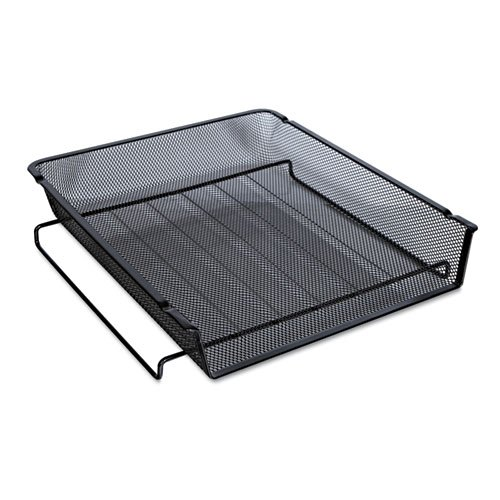 Universal One Mesh Stackable Front Load Tray, Letter, Black (Front Load Desk Tray compare prices)