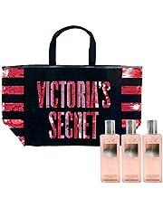 Victoria's Secret Gift Set Bombshell Shimmer Mist & Tote Bag 4 Piece Combo