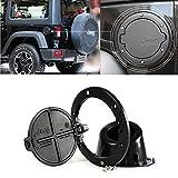 Micropower Fuel Filler Door Cover Gas Tank Cap for 07-15 Jeep Wrangler Jk Sahara 2/4 Door