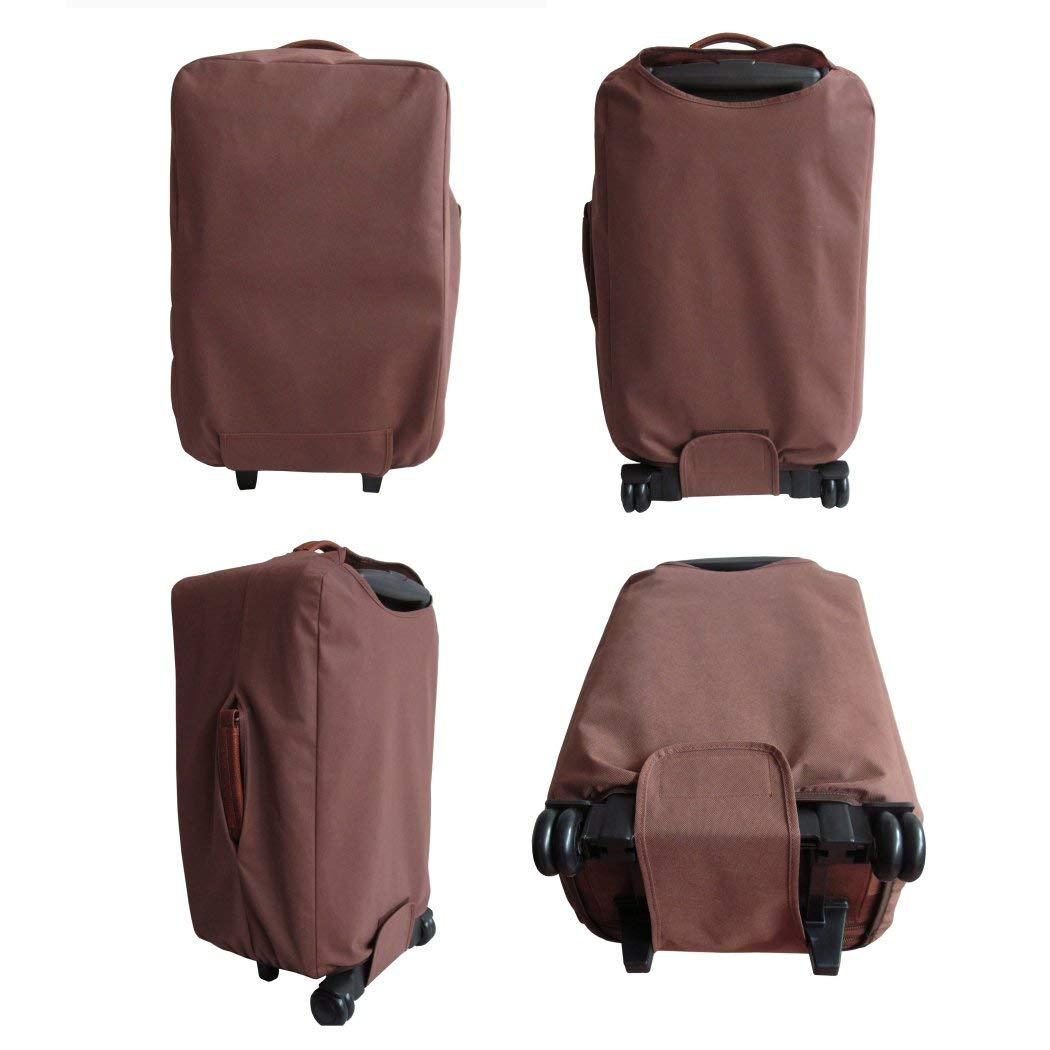 Brown Small Wheeled Duffle Bag 26-Inch Leather Upright Solid Expandable Handle