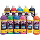 Colorations SWT16 Colorations Simply Washable Tempera Paint - 16 oz. (Pack of 11)
