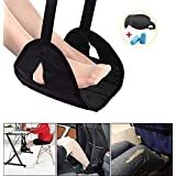 Airplane Footrest for Airplane Travel Office, Portable Foot Hammock Leg Sling for Air Travel Accessories Foot Rest Carry-on for Sleep Relax