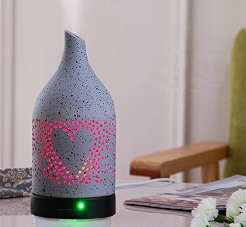 LUOTIANLANG 100ML intelligent ultrasonic humidifier, home mute, seven color fragrance lamp, creative air humidifier,gray,921cm by LTL