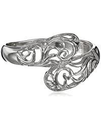 Sterling Silver Filigree By-Pass Ring