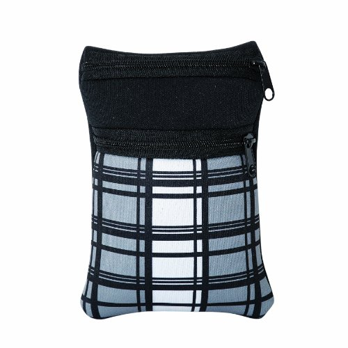 Price comparison product image Bags for Less Neoprene Accessories Pouch Black with Grey Plaid