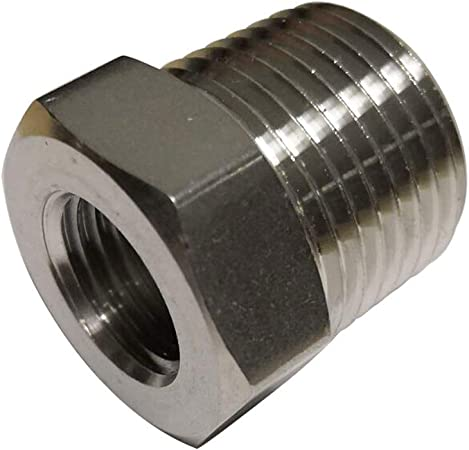Metalwork NPT Bushing/3//8 Male x 1//4 Female Reducing Adapter Hex Head Pipe Fitting 2pcs
